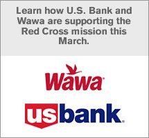 Learn how U.S. Bank and Wawa are supporting the Red Cross mission this March.