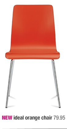 NEW ideal orange chair 79.95