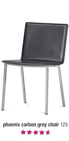 phoenix carbon grey chair 129.