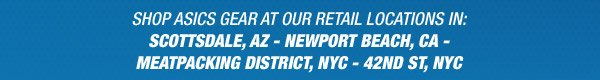 Find our ASICS Store Locations - Promo Banner