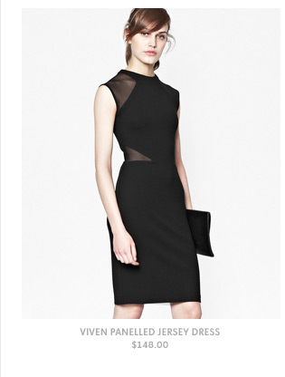 Viven Panelled Jersey Dress