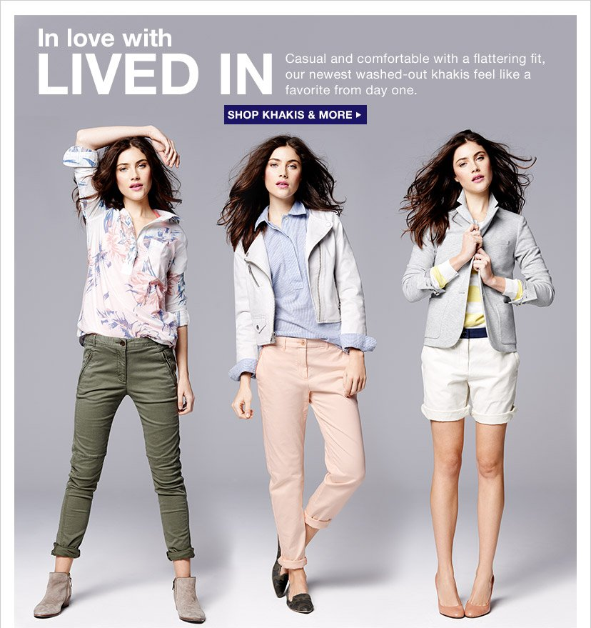 In love with LIVED IN | SHOP KHAKIS & MORE