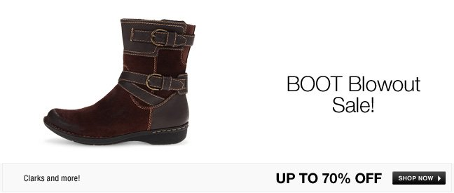 BOOT blowout sale!