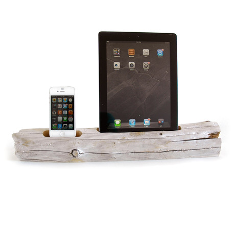 Driftwood Docking Station // Large Tablet + Smartphone