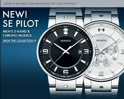 NEW! - SE PILOT - MEN'S 3-HAND & CHRONO MODELS - SHOP THE COLLECTION ›