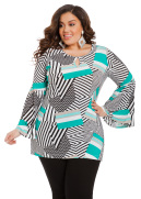 Bell Sleeve Keyhole Tunic Top