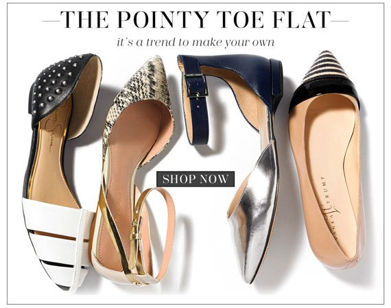 The Pointy Toe Flat. It's a trend to make your own. Shop Now