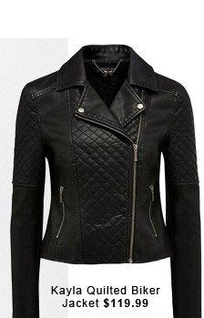 Kayla Quilted Biker Jacket