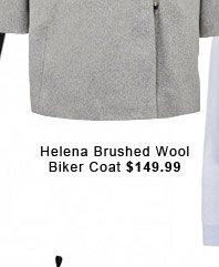 Helena Brushed Wool Biker Coat