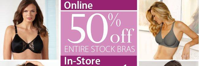 Online save 50% off Bras