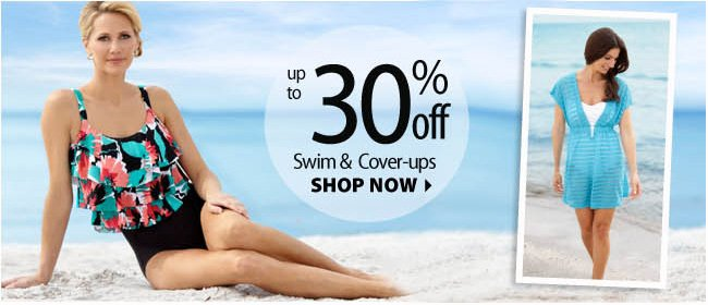 Up to 30% off Swim and Cover-ups