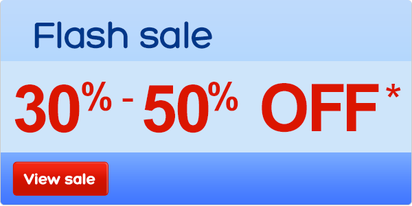 Two day sale – save up to 50%*