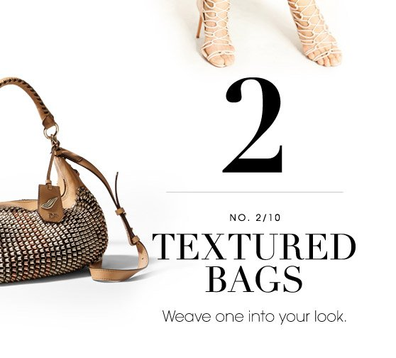 2 TEXTURED BAGS