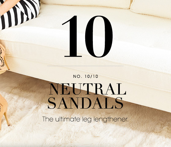 10 NEUTRAL SANDALS