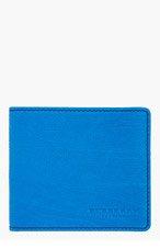 BURBERRY PRORSUM Blue Leather Bifold Wallet for men