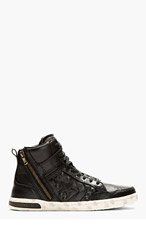 CONVERSE BY JOHN VARVATOS Black Leather Hidden Hardware Weapon High-top Sneakers for men