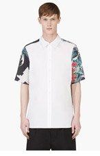 3.1 PHILLIP LIM White Tropical Print Panel Shirt for men