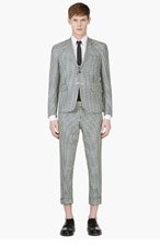 THOM BROWNE Green & BLUE Gingham CHECK SUIT for men