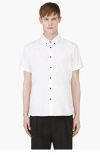 MARC BY MARC JACOBS WHite Black-Buttoned Logo shirt for men