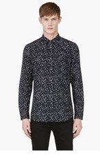 DIESEL Black S-Aca Print Button Down Shirt for men