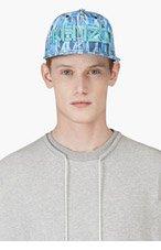 KENZO Blue & Green BLOCK FLOWER NEW ERA Edition CAP for men