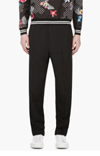 3.1 PHILLIP LIM Black Wool Drawstring Trousers for men