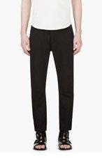 ANN DEMEULEMEESTER Black Linen Blend Cropped Trousers for men
