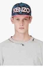 KENZO BLACK & Pink WAVE Print NEW ERA Edition CAP for men