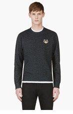 KENZO Black & Blue Tiger Crest Sweater for men