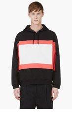 KENZO Black & Red Colorblocked Hoodie for men