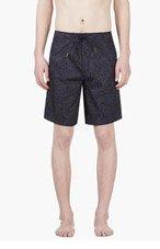 MARC BY MARC JACOBS Navy Malibu Print Swim Shorts for men