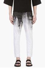 DENIS GAGNON Black & White Hand Painted Trousers for men