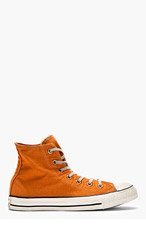 CONVERSE PREMIUM CHUCK TAYLOR Orange WELL-WORN CHUCK TAYLOR ALL STAR HIgh-TOP SNeakers for men