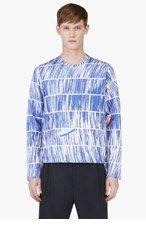KENZO Blue Neoprene Abstract Sweater for men