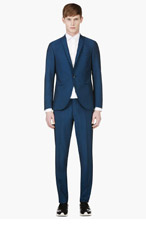 TIGER OF SWEDEN Blue Wool-Mohair Suit for men