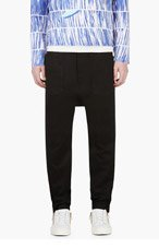 Y-3 Black Cropped Sarouel Trousers for men