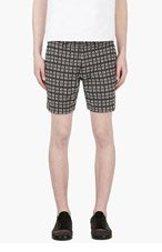 MARC BY MARC JACOBS Black & White Frocked Cotton Shorts for men