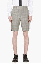 THOM BROWNE Grey & Red Glenplaid Shorts for men