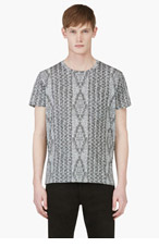 MARC BY MARC JACOBS Grey Knit Print T-Shirt for men