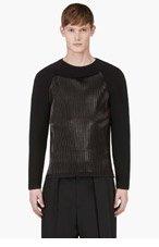 DENIS GAGNON Black Ribbed Neoprene Shirt for men