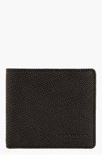 BURBERRY PRORSUM Black Pebbled Leather Bifold Wallet for men
