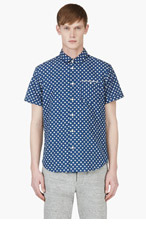MARC BY MARC JACOBS Indigo Floral CHAMBRAY Shirt for men