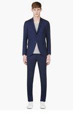 TIGER OF SWEDEN Indigo Blue Wool EVERT 14 Suit for men