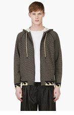 MARC BY MARC JACOBS Black Striped Wave Trim Hoodie for men