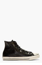 CONVERSE BY JOHN VARVATOS Black Snakeskin DOUBLE ZIP CHUCK TAYLOR ALL STAR Sneakers for men