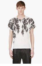 ANN DEMEULEMEESTER White Floral Print T-Shirt for men