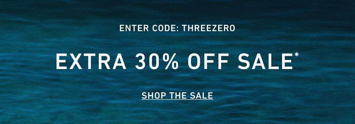 Extra 30% Off Sale. Enter Code: THREEZERO