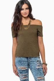Off Shoulder Basic Tee