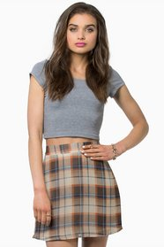 Terry Plaid Skirt