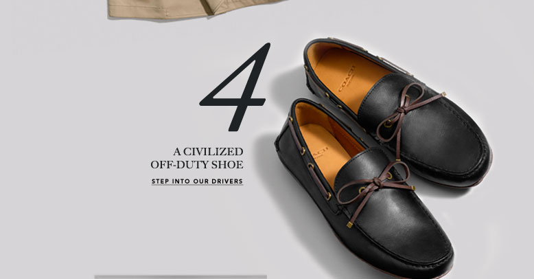 4 A CIVILIZED OFF-DUTY SHOE | STEP INTO OUR DRIVERS